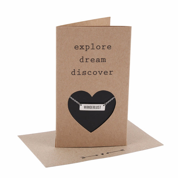 Explore Dream Discover - 'Wanderlust' necklace