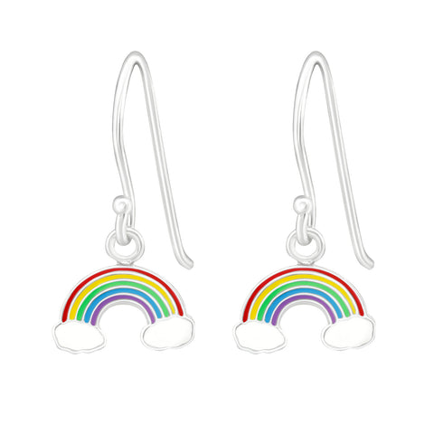Rainbow Sterling Silver Drop Earrings