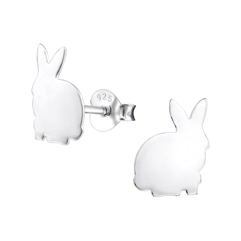Sweet bunny rabbit silhouette stud earrings.