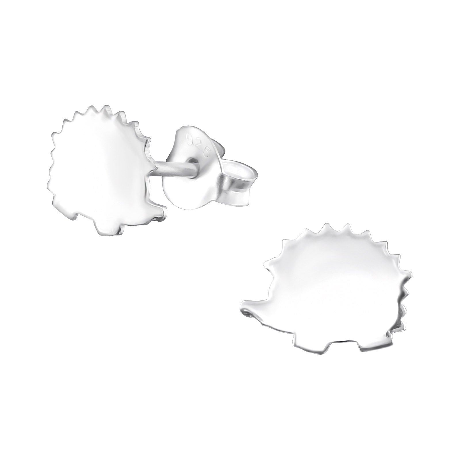 Sweet hedgehogs silhouette stud earrings.