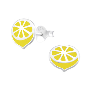 Luscious lemon slice stud earrings.