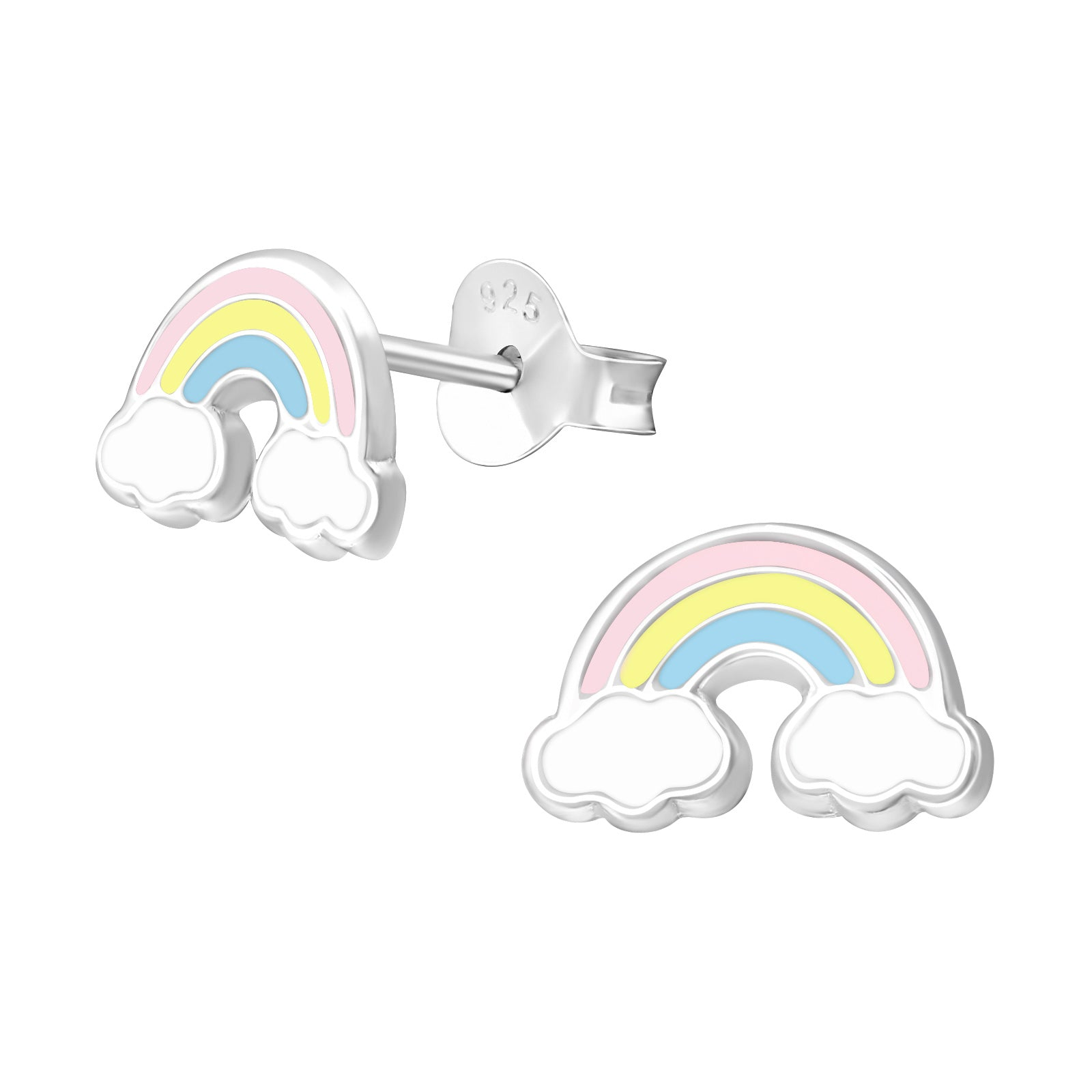 Chase rainbows with these pretty pastel rainbow stud earrings.