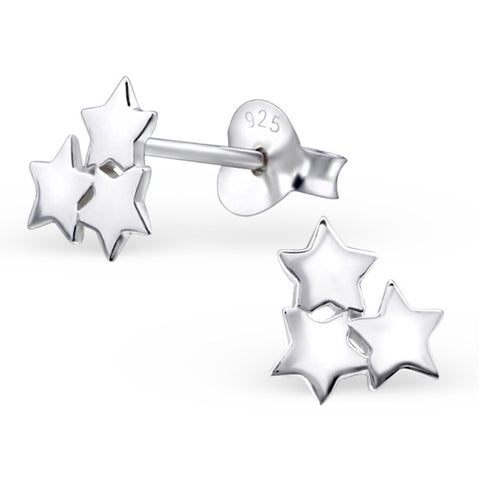 Reach for the stars with these pretty triple star stud earrings.