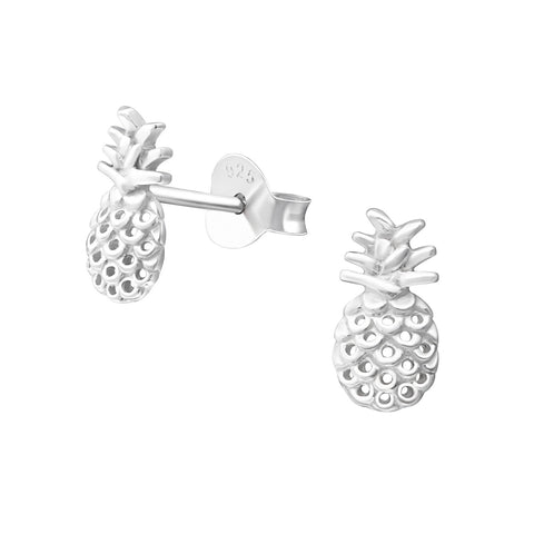Stand tall and wear a crown with this pretty pineapple stud earrings.