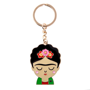 Keyring featuring Frida Kahlo and reflecting the vibrant culture of Mexico.