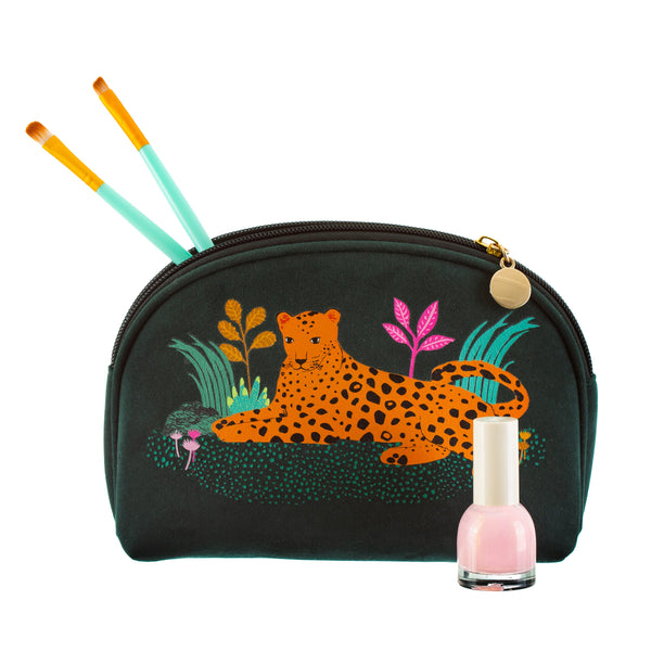 Leopard stay fierce make up bag