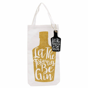 Let the Festivities Be Gin Bottle Bag