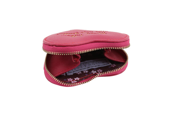 Pink Money Talks Heart Purse