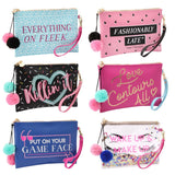 Large Beauty / Make Up Bag with wrist strap so could be used as a clutch bag / purse. Choice of designs.