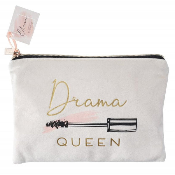 Fabulous mascara wand lash design make up bag featuring the phrase Drama Queen