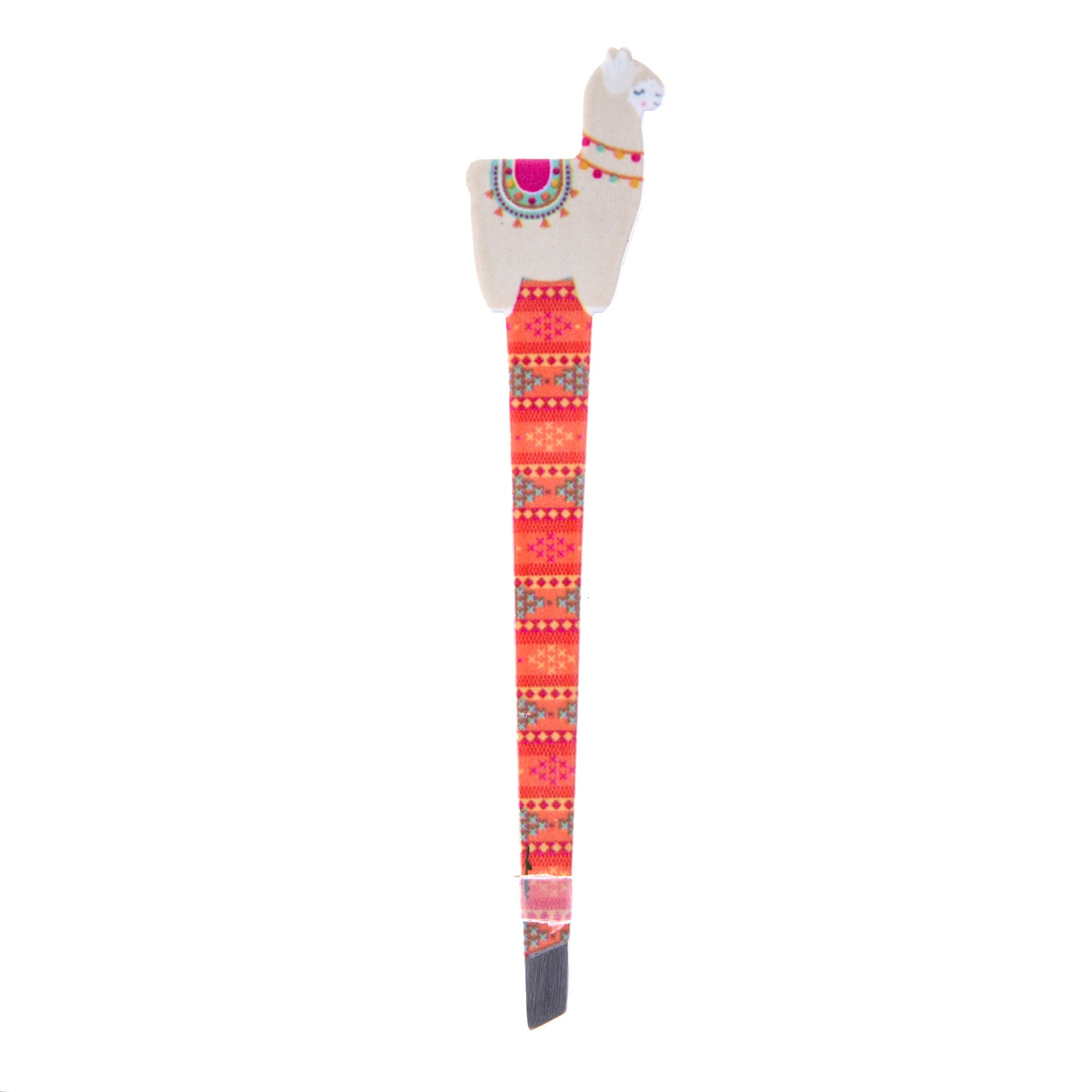 Novelty llama tweezers with pretty peruvian style pattern
