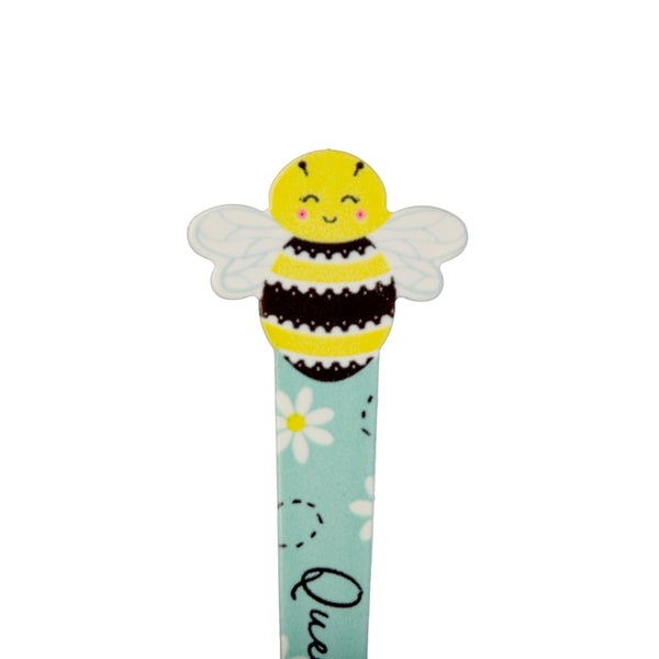 Close up of queen bee on novelty tweezers