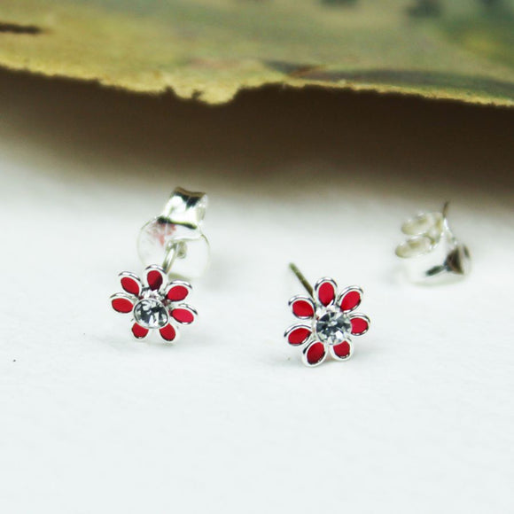 Dainty Flower Earrings - Choice of Colours
