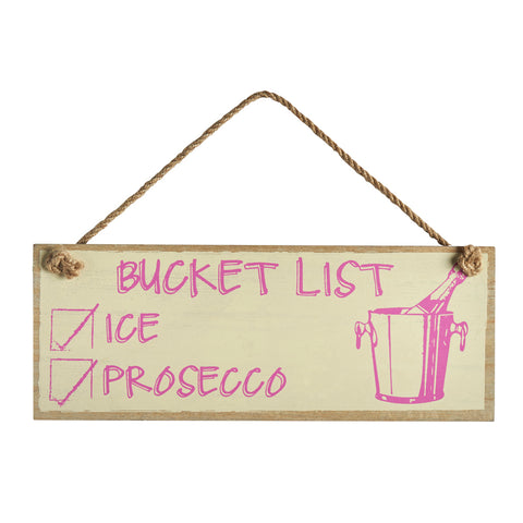 Prosecco Bucket List Sign