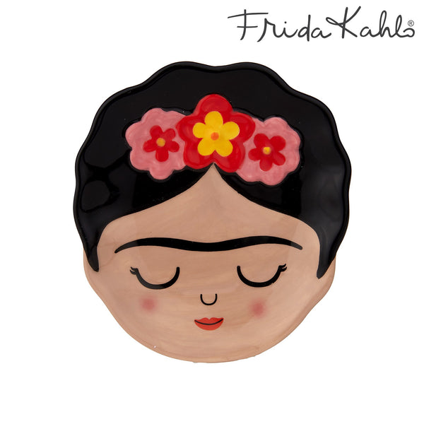 Pretty trinket dish featuring Frida Kahlo and reflecting the vibrant culture of Mexico.