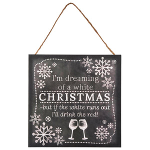 White Christmas Wine Sign