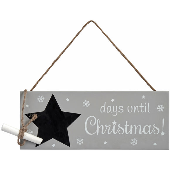Days to Christmas countdown sign