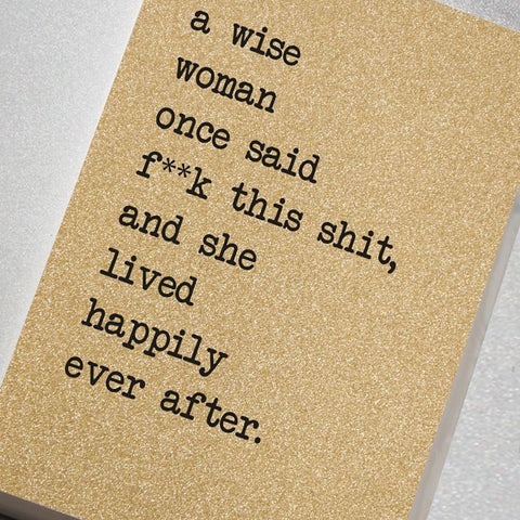 A wise woman A5 glitter notebook