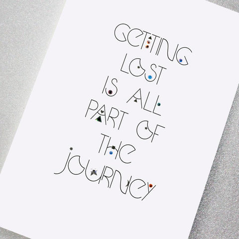 Getting Lost is Part of the Journey Swarovski greeting card