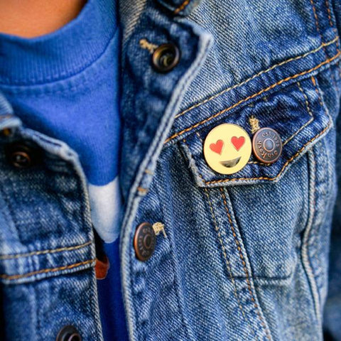 Heart Eye Emoji Enamel Pin