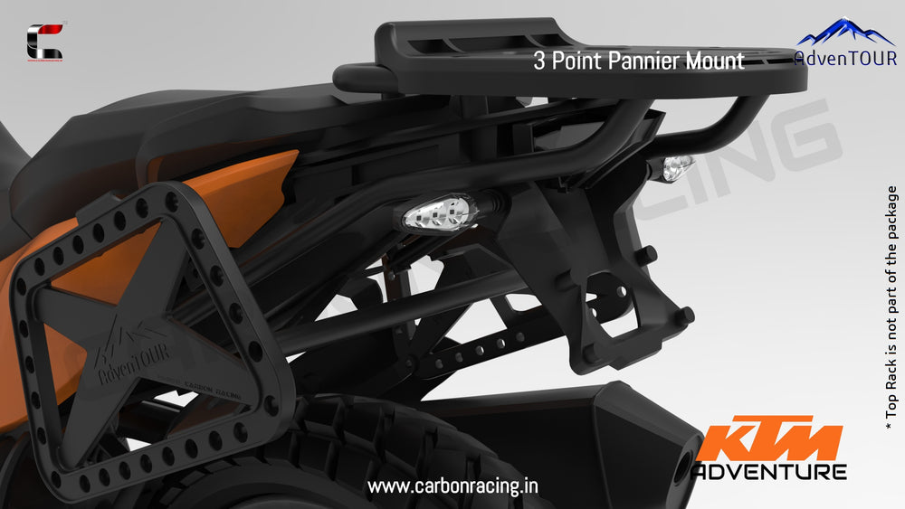 3-Point Pannier Mount / Saddle Stay for KTM 390 Adventure - AdvenTOUR Branded