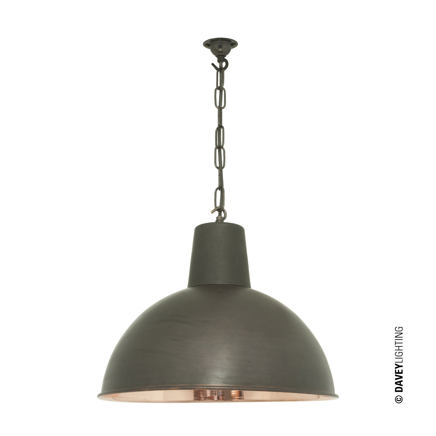 Spun Reflector Medium (DP7164) Weathered/Polished Copper (Clearance)  By Davey Lighting