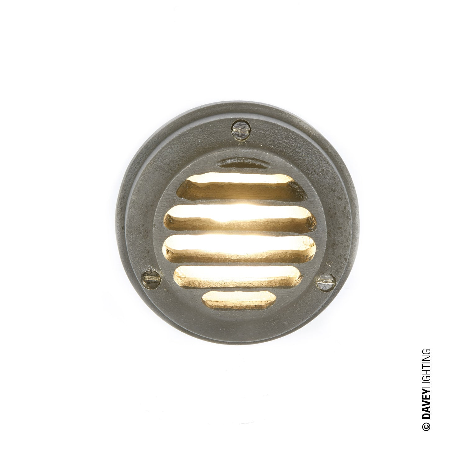 Low Voltage LED Step or Path Light (DP7567) (Clearance 3 Available in Weathered Brass) Low Voltage LED  by DAVEY LIGHTING
