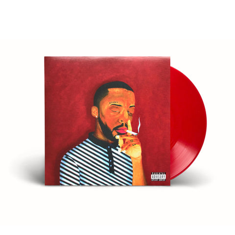 Brent Faiyaz - A.M. Paradox on red vinyl front cover