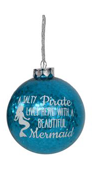 Glitter Mermaid Ornament- Salty Pirate - mermaidinspiration