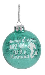 Glitter Mermaid Ornament- Be a Mermaid - mermaidinspiration