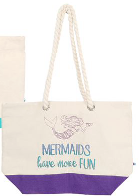 Mermaid Tote- More Fun - mermaidinspiration