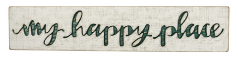 My Happy Place Wood Sign - mermaidinspiration