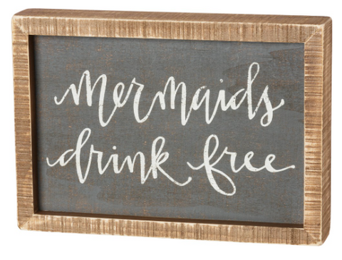 Drink Free Box Sign - mermaidinspiration