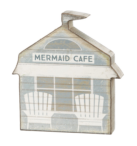 Mermaid Cafe - Wooden Sitter - mermaidinspiration