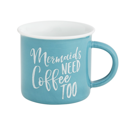 Mermaids Need Coffee Camp Mug - mermaidinspiration
