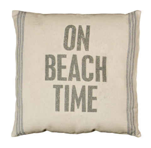 On Beach Time Pillow - mermaidinspiration
