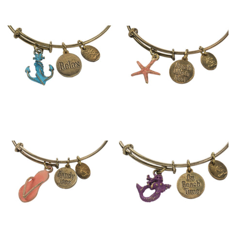 Set of 4 Mermaid Charm Bracelets - mermaidinspiration