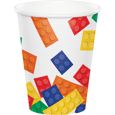 Building Block Paper Cups| 8 ct