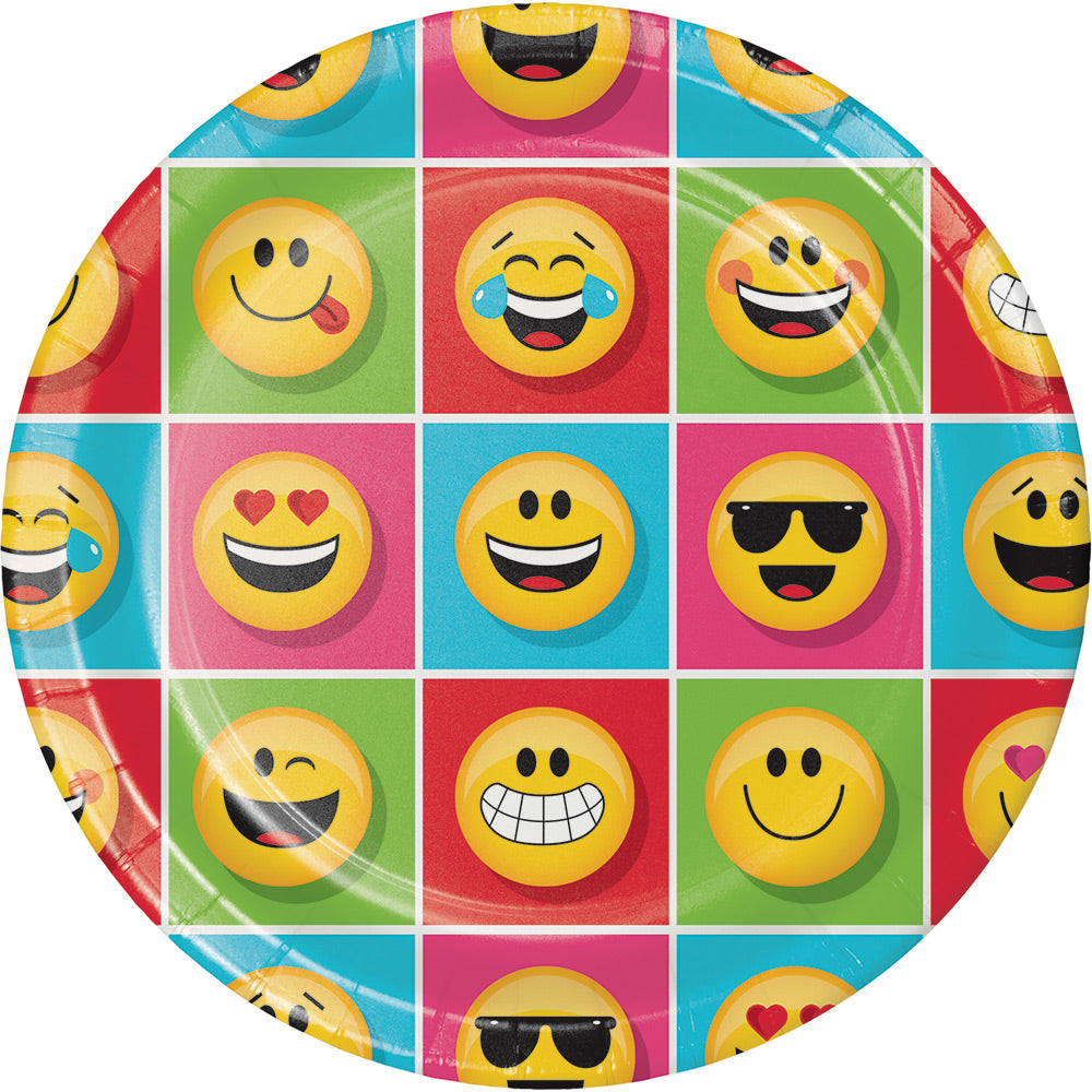 SHOW YOUR EMOJIONS PAPER PLATES 9"