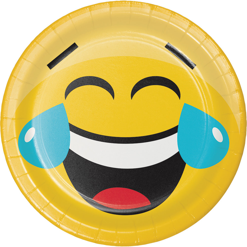 SHOW YOUR EMOJIONS PAPER PLATES, 7"