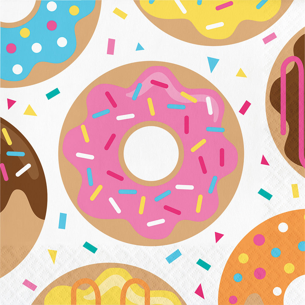Donut Party Paper Luncheon Napkins | 16 ct