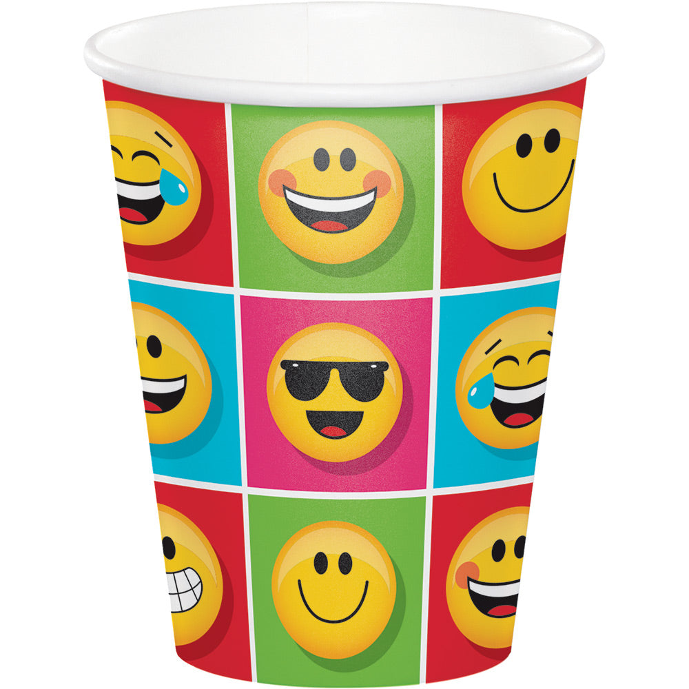 SHOW YOUR EMOJIONS PAPER PAPER CUPS |8 ct