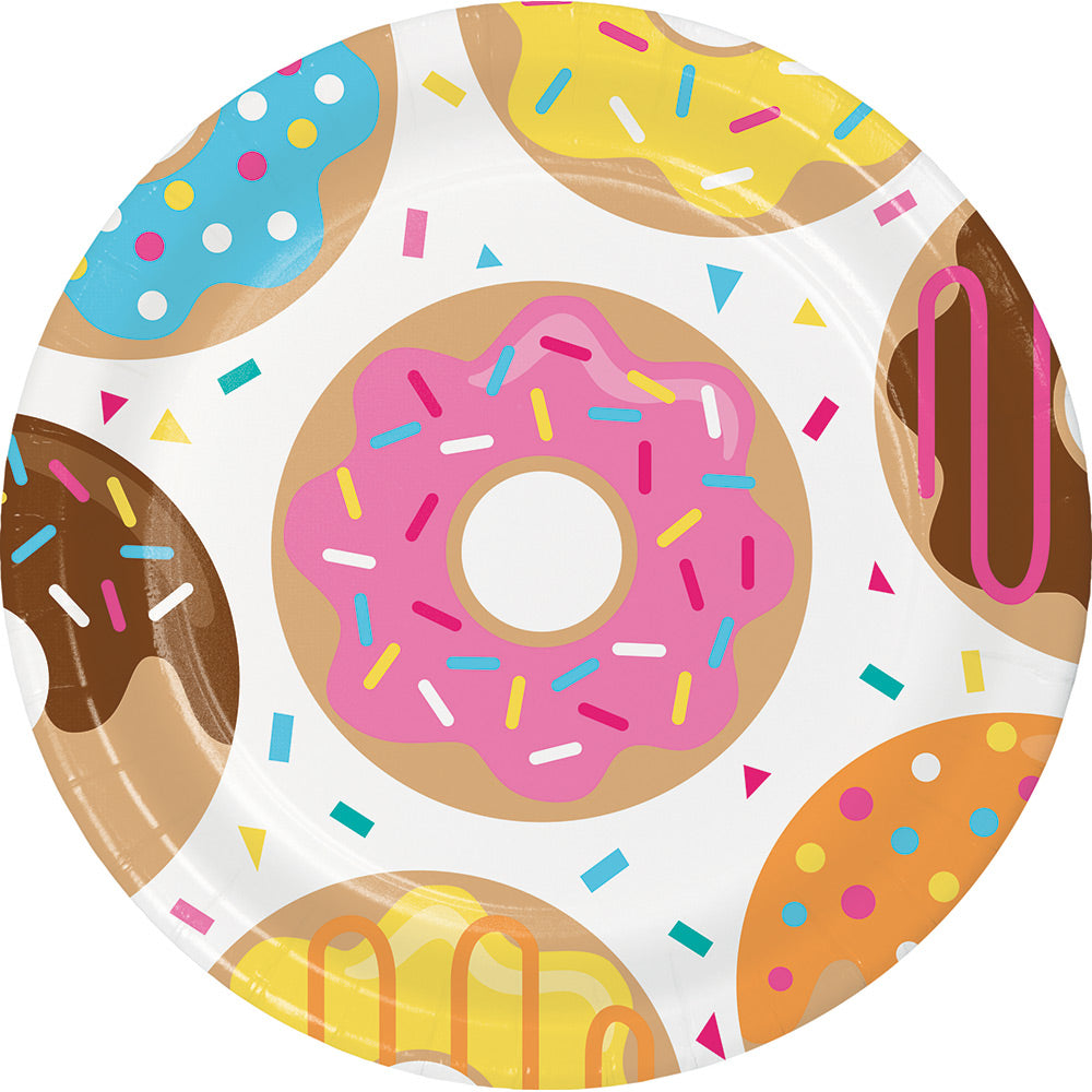 Donut Party Plates, 9"