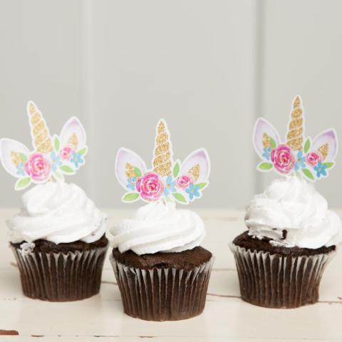 Unicorn Cupcake Toppers| Unicorn Party