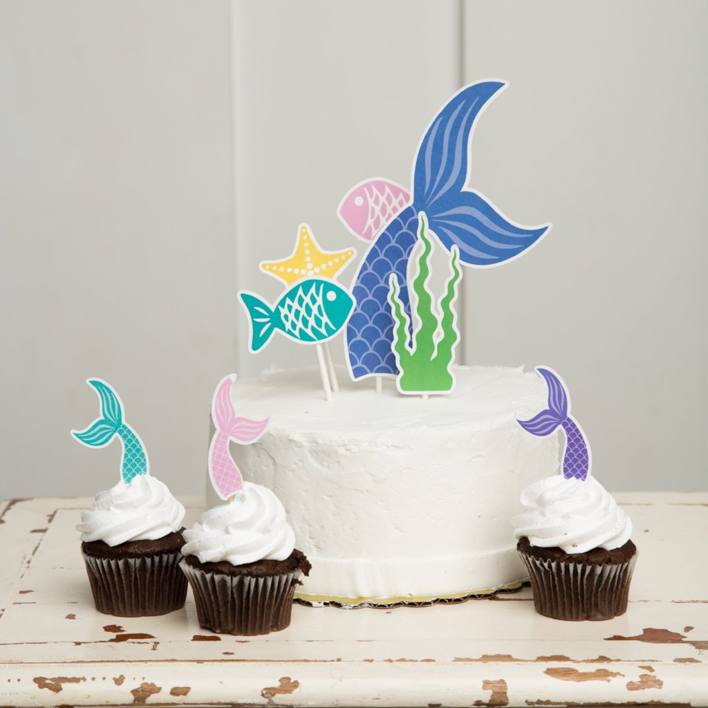Mermaid Tail Cake Topper| Mermaid Party| Mermaid Cake Topper