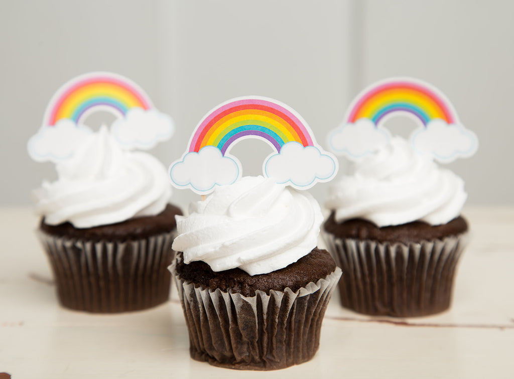 Rainbow Cupcake Toppers| Rainbow Party
