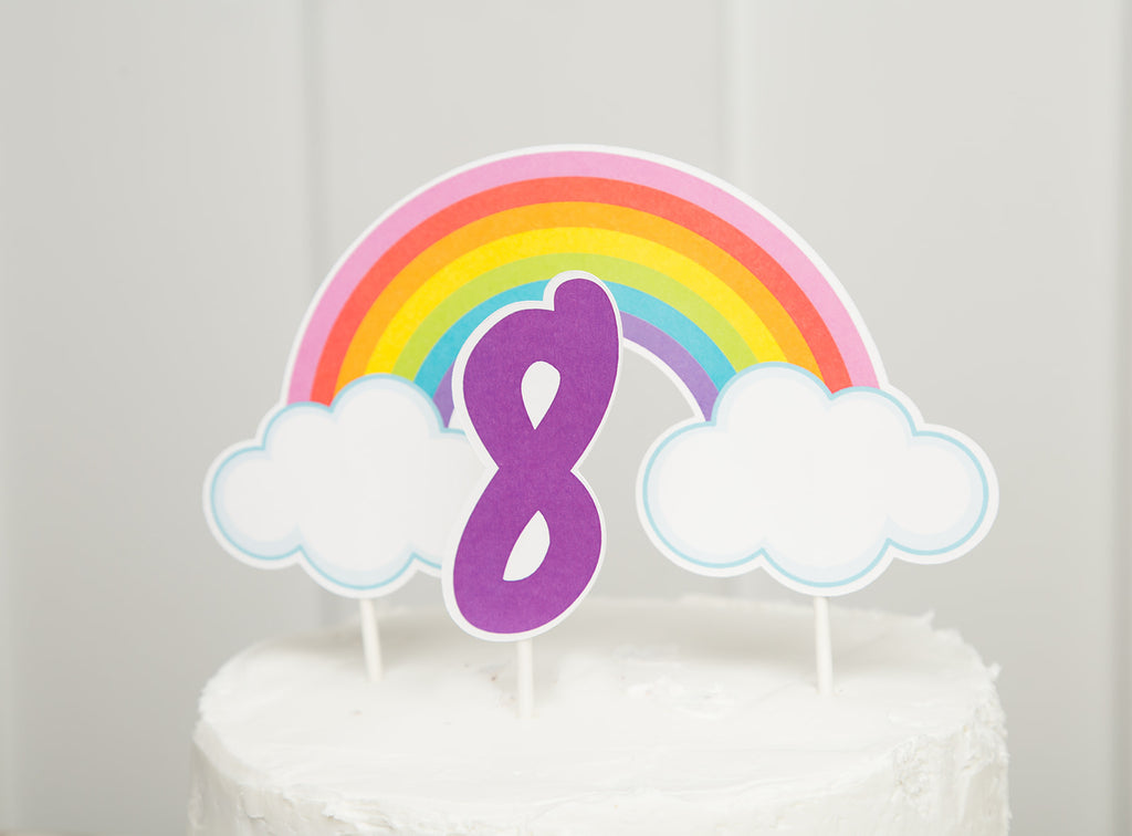 Rainbow Cake Topper| Rainbow Party