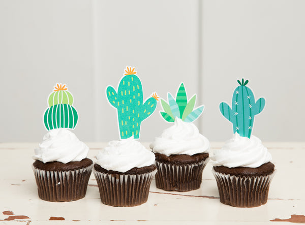 Cactus Cupcake Toppers| Llama Party| Cactus Toppers