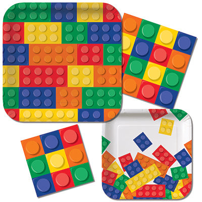 Building Block Party Dinner Napkins| Building Block Party | 16 ct