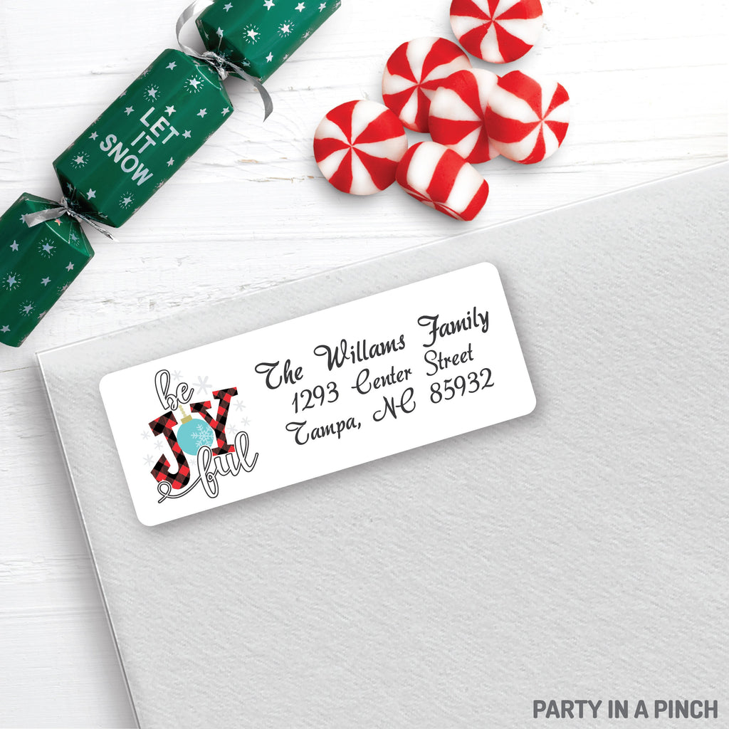 Christmas Be Joyful Address Labels| Personalized